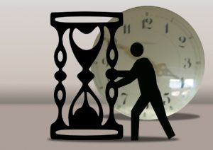 man with timer